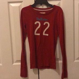 Red hollister 22 long sleeve